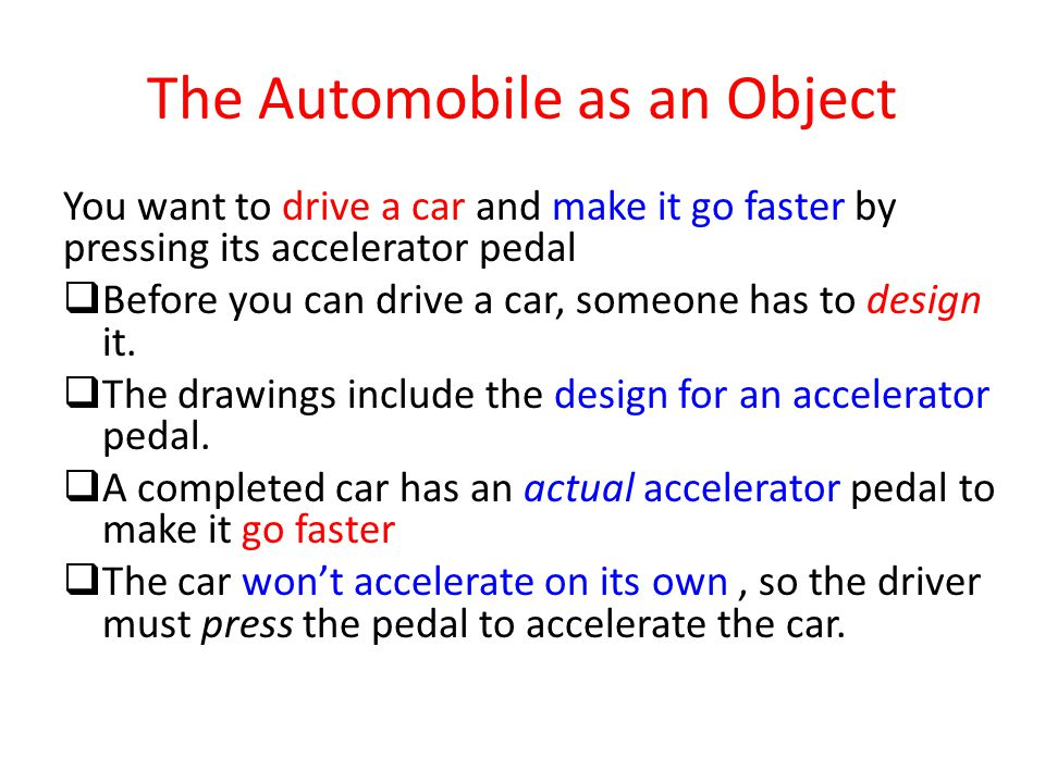 The Automobile as an Object