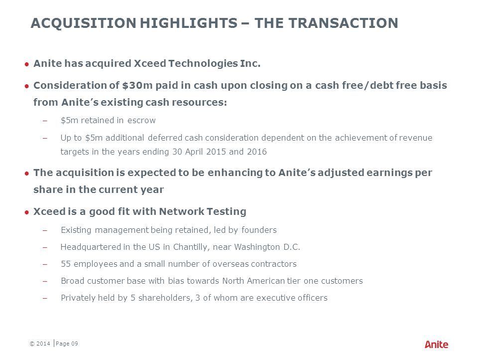 Xceed TECHNOLOGIES INC – FINANCIAL OVERVIEW