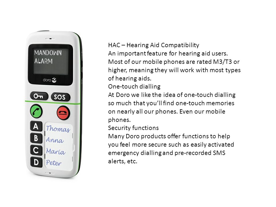 HAC – Hearing Aid Compatibility