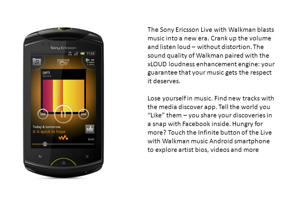The Sony Ericsson Live with Walkman blasts music into a new era