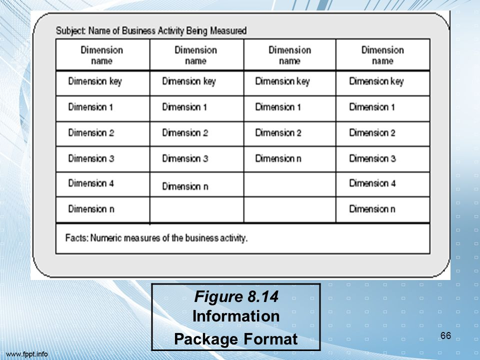 Figure 8.14 Information Package Format