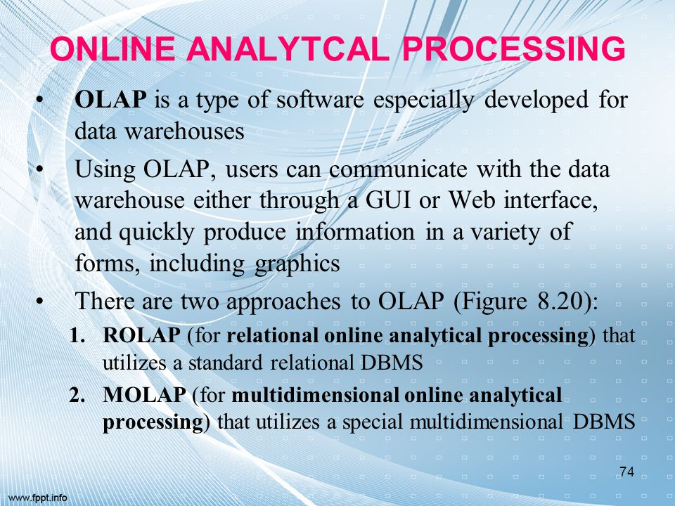 ONLINE ANALYTCAL PROCESSING