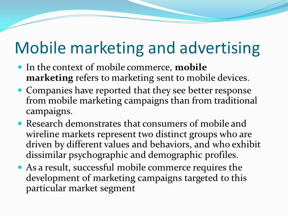 Mobile marketing and advertising