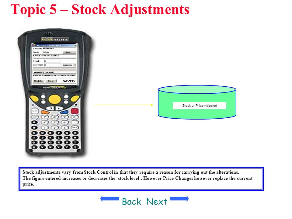 Topic 5 – Stock Adjustments