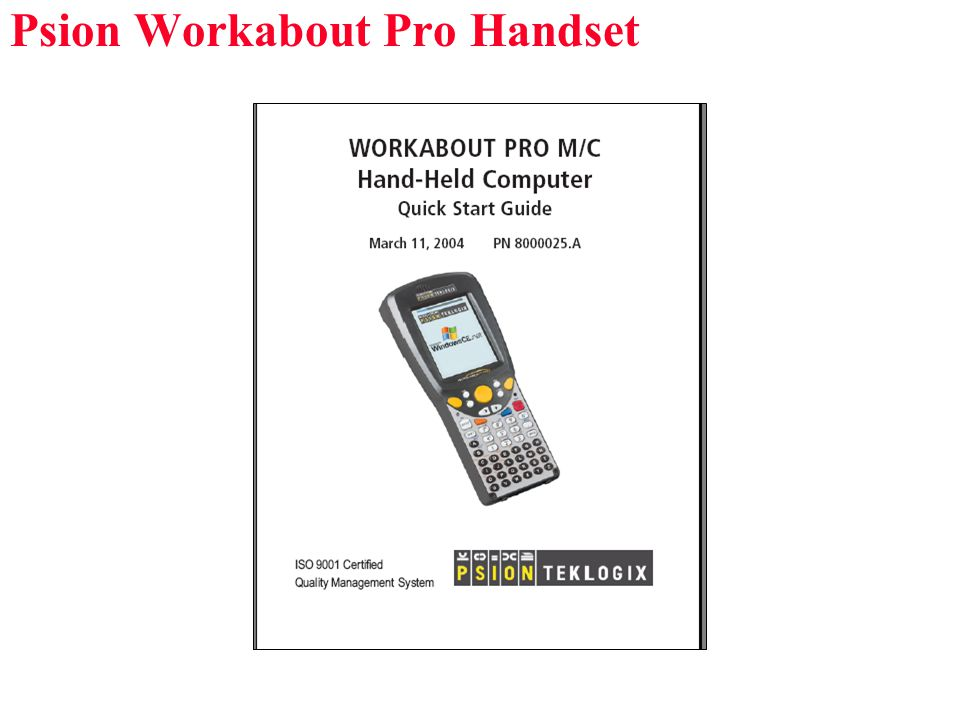 Psion Workabout Pro Handset