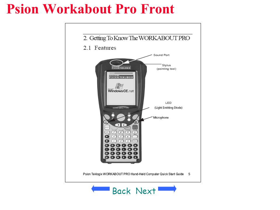 Psion Workabout Pro Front