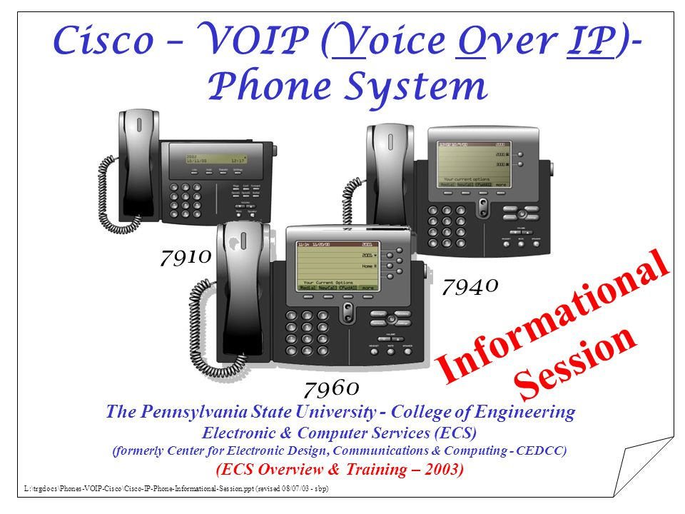 Cisco – VOIP (Voice Over IP)- Phone System