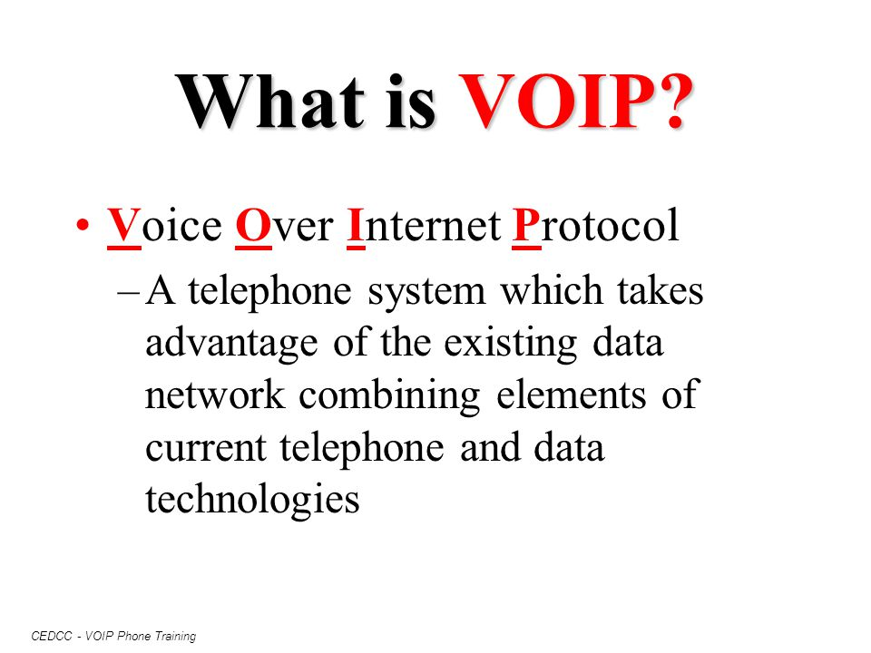 What is VOIP Voice Over Internet Protocol
