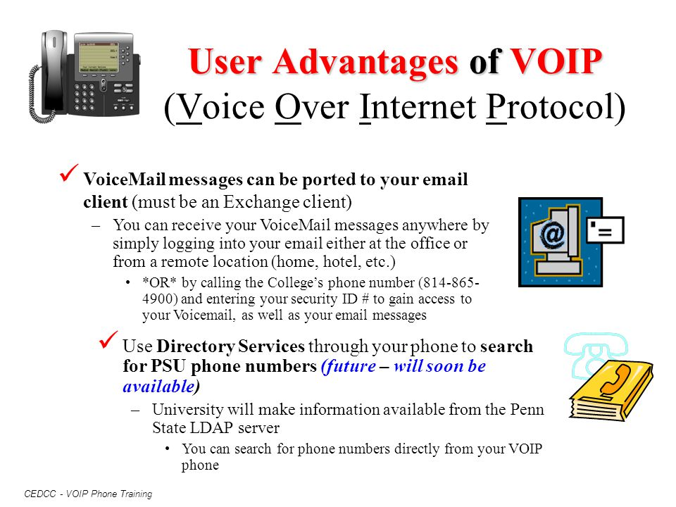 User Advantages of VOIP (Voice Over Internet Protocol)