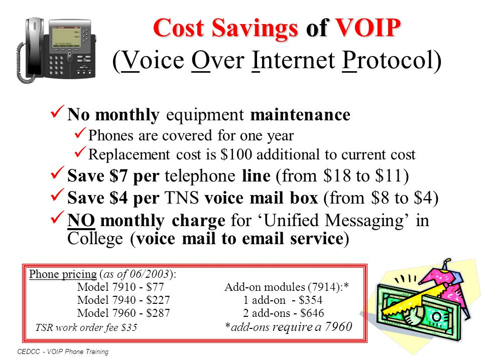 Cost Savings of VOIP (Voice Over Internet Protocol)