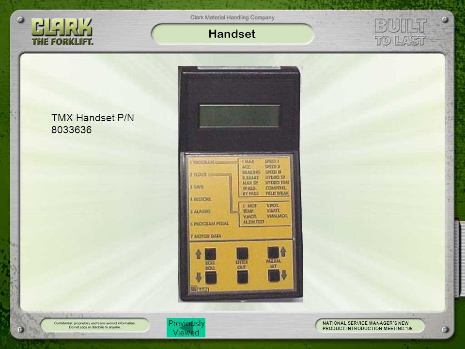 Handset TMX Handset P/N 8033636