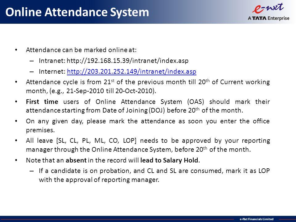 Online Attendance System