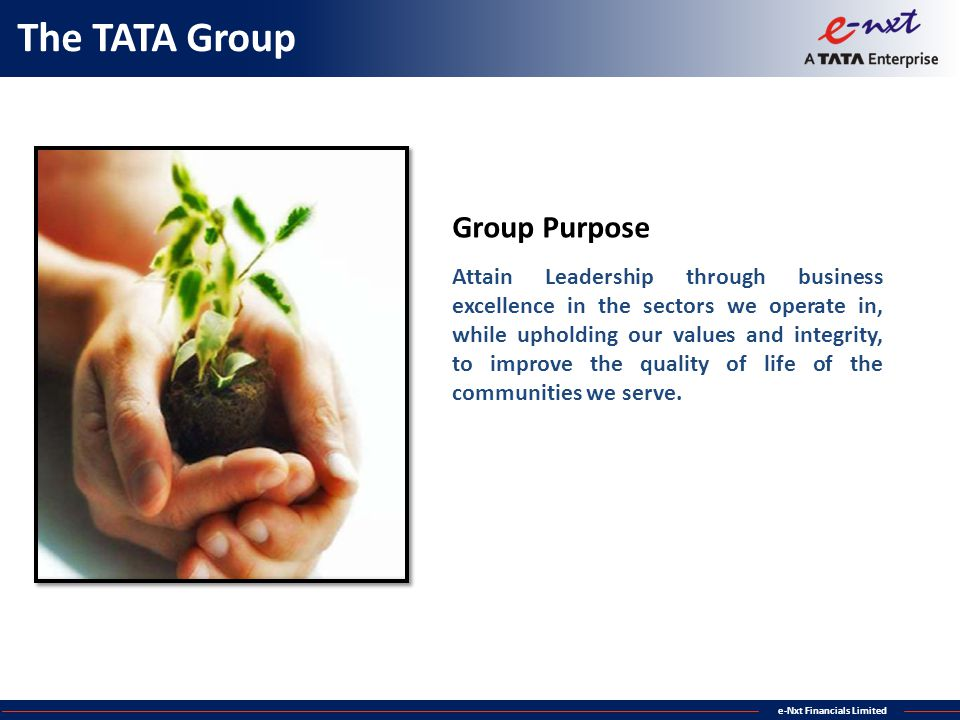 The TATA Group Group Purpose