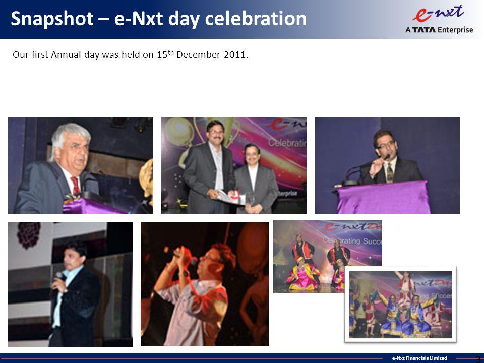 Snapshot – e-Nxt day celebration