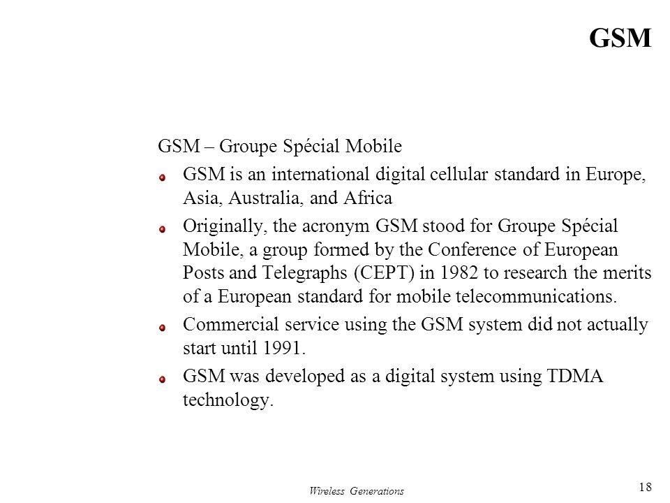 GSM GSM – Groupe Spécial Mobile