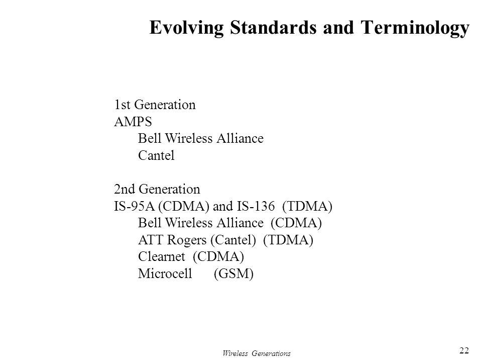 Evolving Standards and Terminology