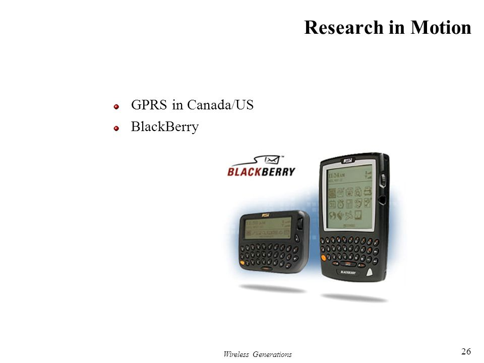 Research in Motion GPRS in Canada/US BlackBerry