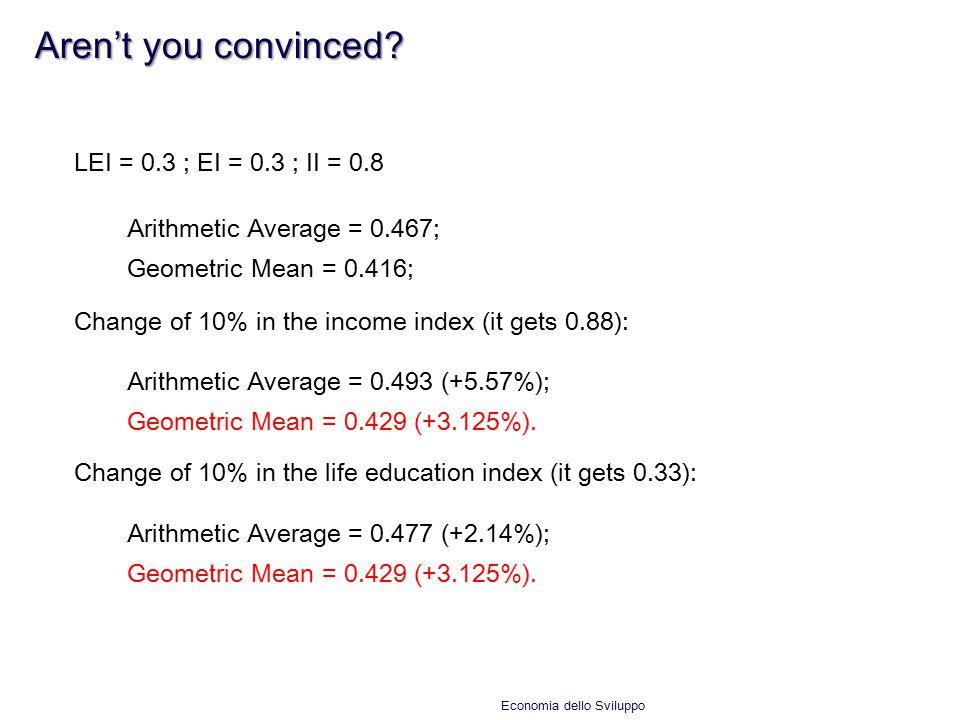 Aren't you convinced LEI = 0.3 ; EI = 0.3 ; II = 0.8
