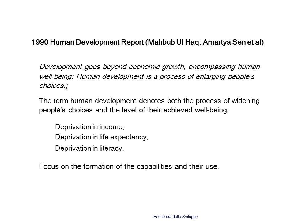 1990 Human Development Report (Mahbub Ul Haq, Amartya Sen et al)