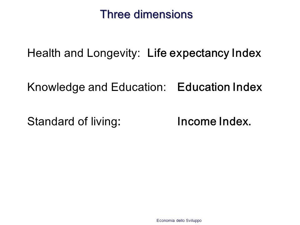 Health and Longevity: Life expectancy Index