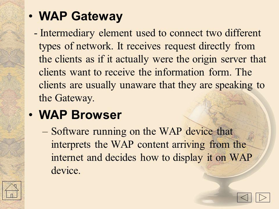 WAP Gateway WAP Browser