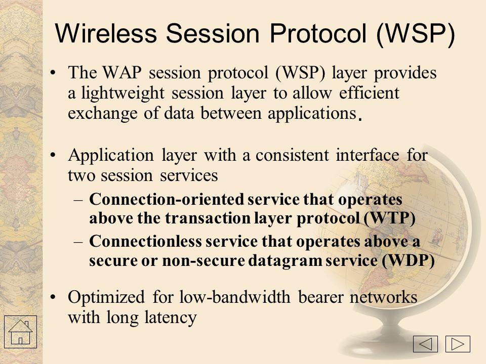 Wireless Session Protocol (WSP)