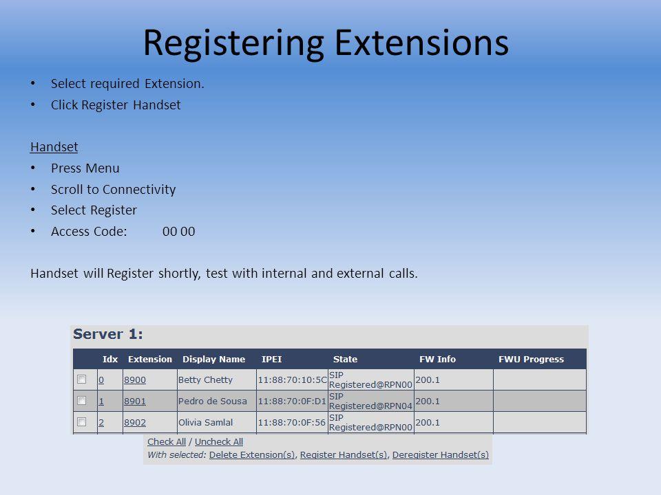 Registering Extensions
