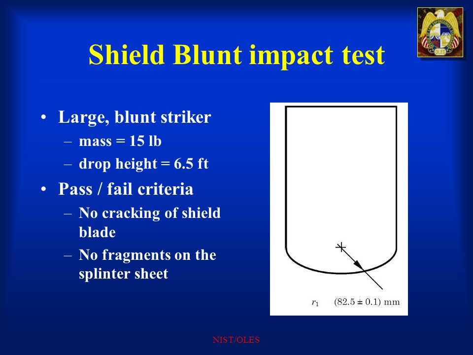 Shield Blunt impact test