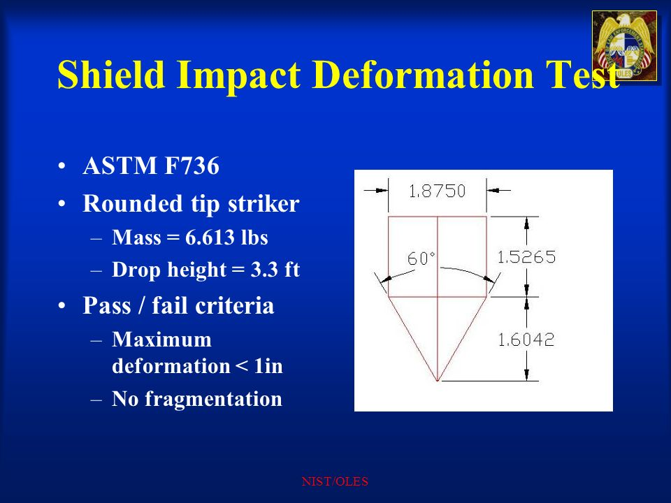 Shield Impact Deformation Test