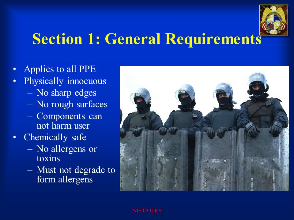 Section 1: General Requirements
