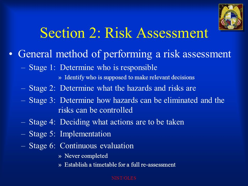 Section 2: Risk Assessment