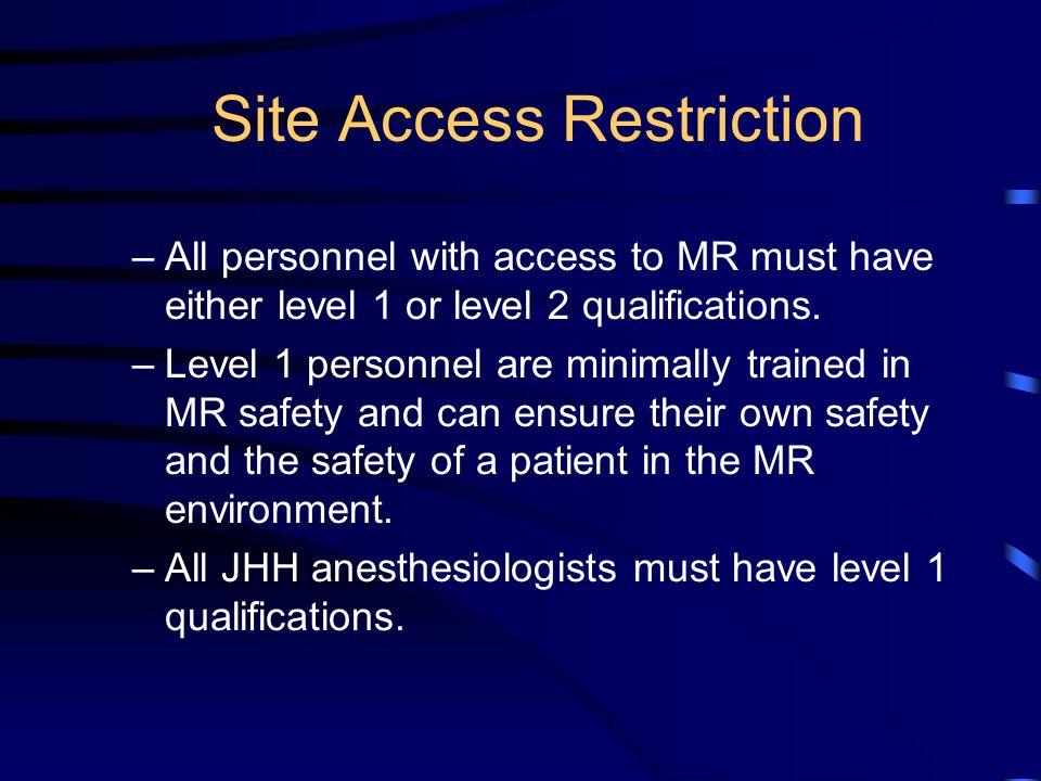 Site Access Restriction