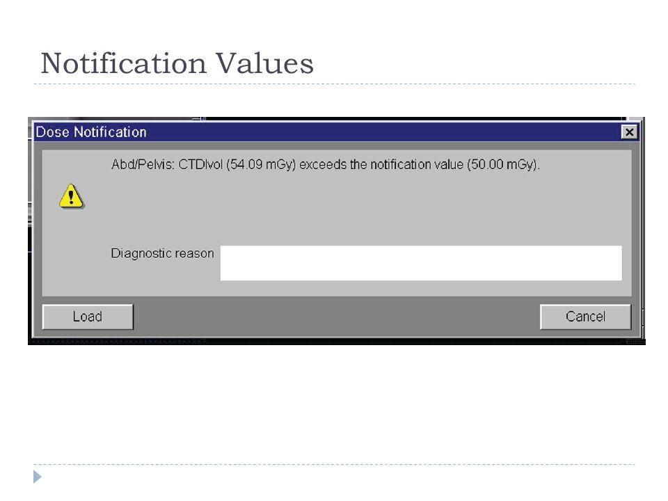 Notification Values
