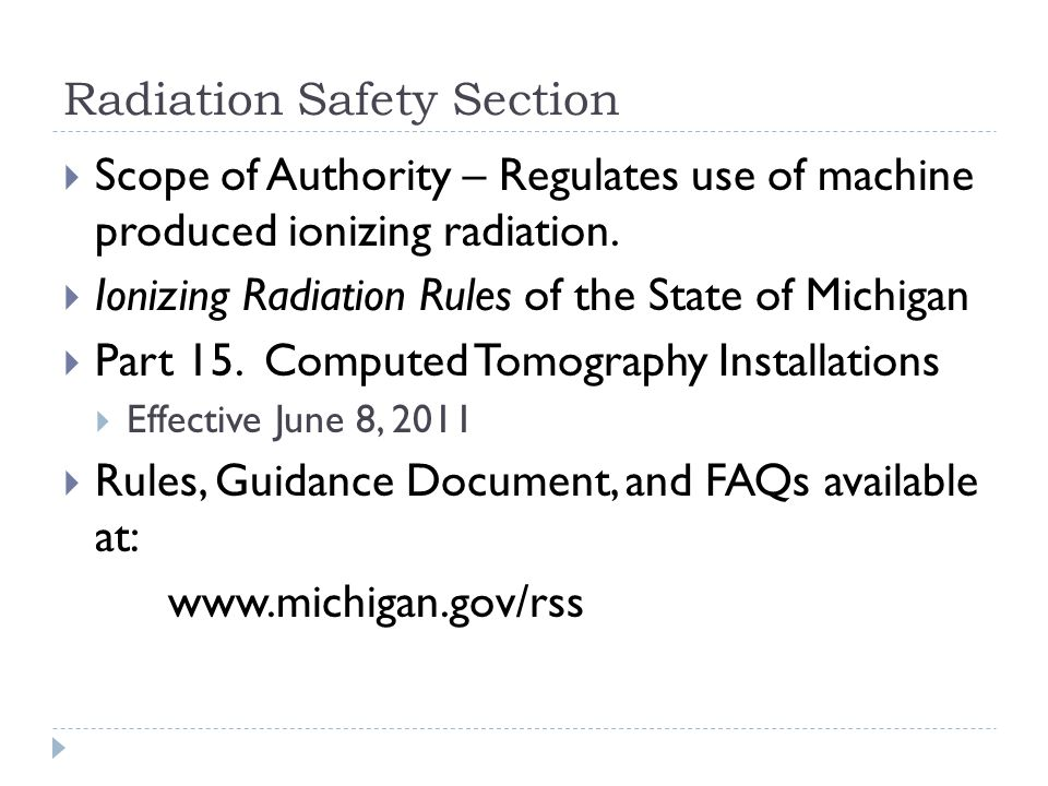 Radiation Safety Section