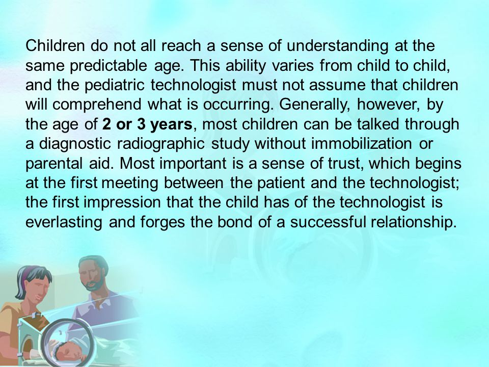 Children do not all reach a sense of understanding at the same predictable age.