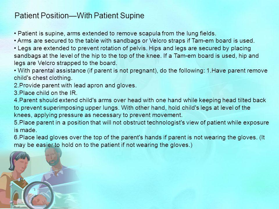Patient Position—With Patient Supine