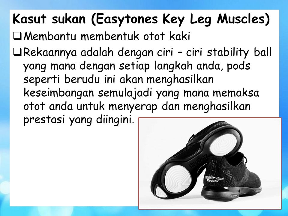 Kasut sukan (Easytones Key Leg Muscles)