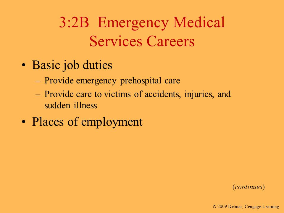 3:2B Emergency Medical Services Careers