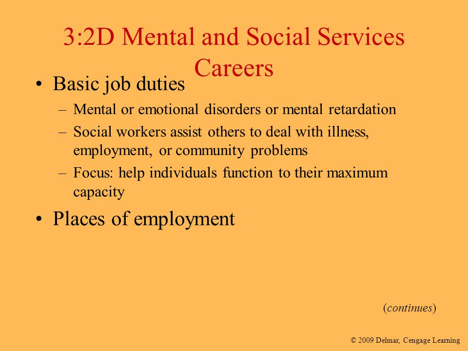 3:2D Mental and Social Services Careers