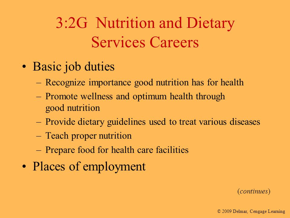 3:2G Nutrition and Dietary Services Careers