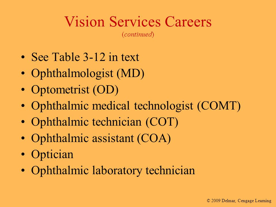 Vision Services Careers (continued)