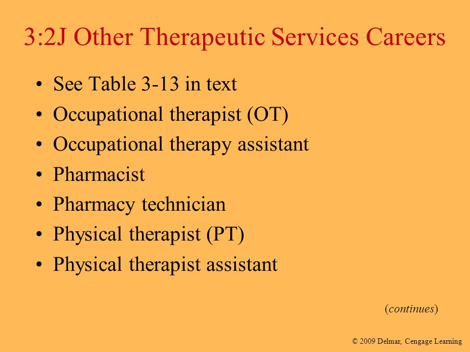 3:2J Other Therapeutic Services Careers