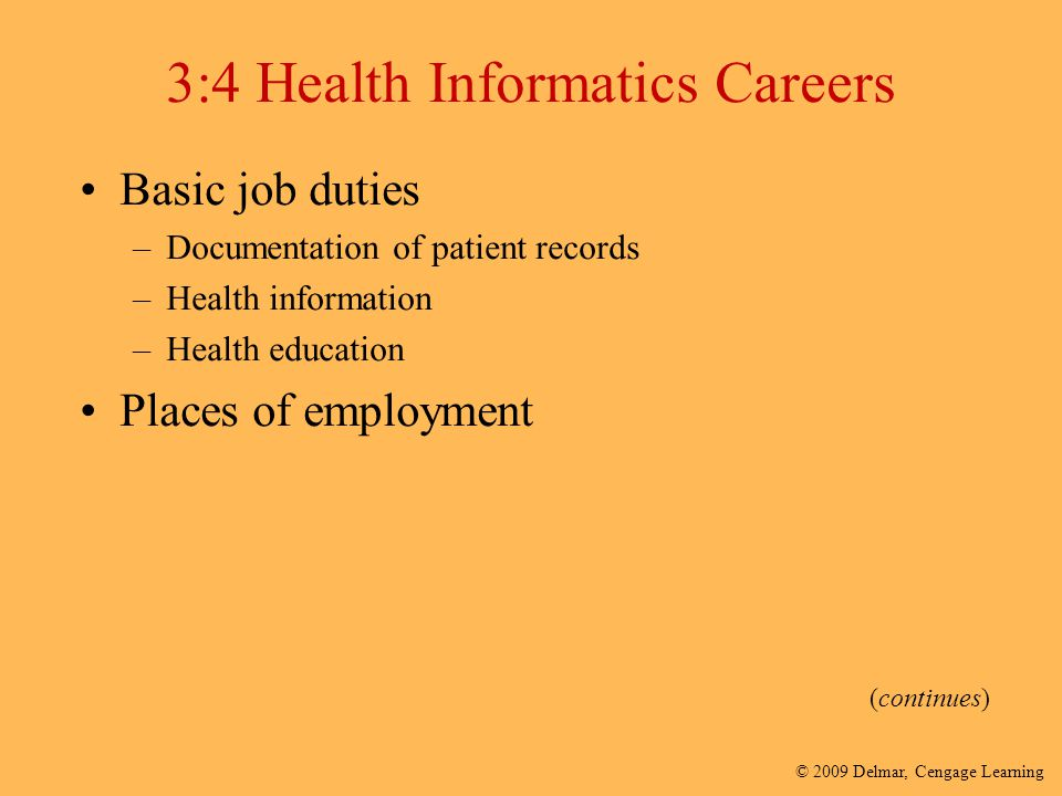 3:4 Health Informatics Careers