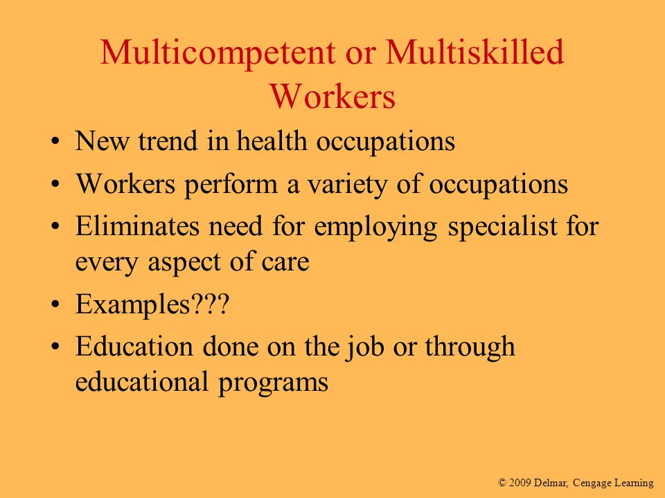 Multicompetent or Multiskilled Workers