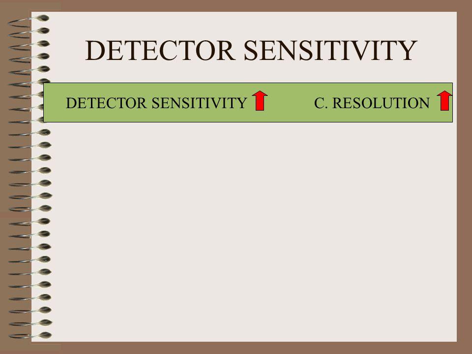 DETECTOR SENSITIVITY C. RESOLUTION