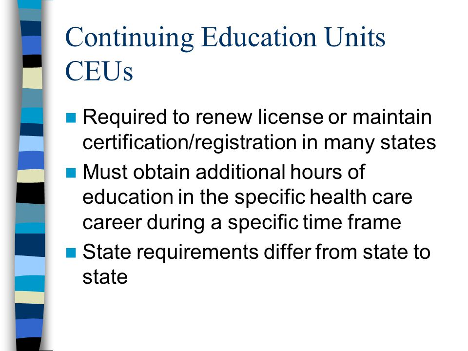 Continuing Education Units CEUs