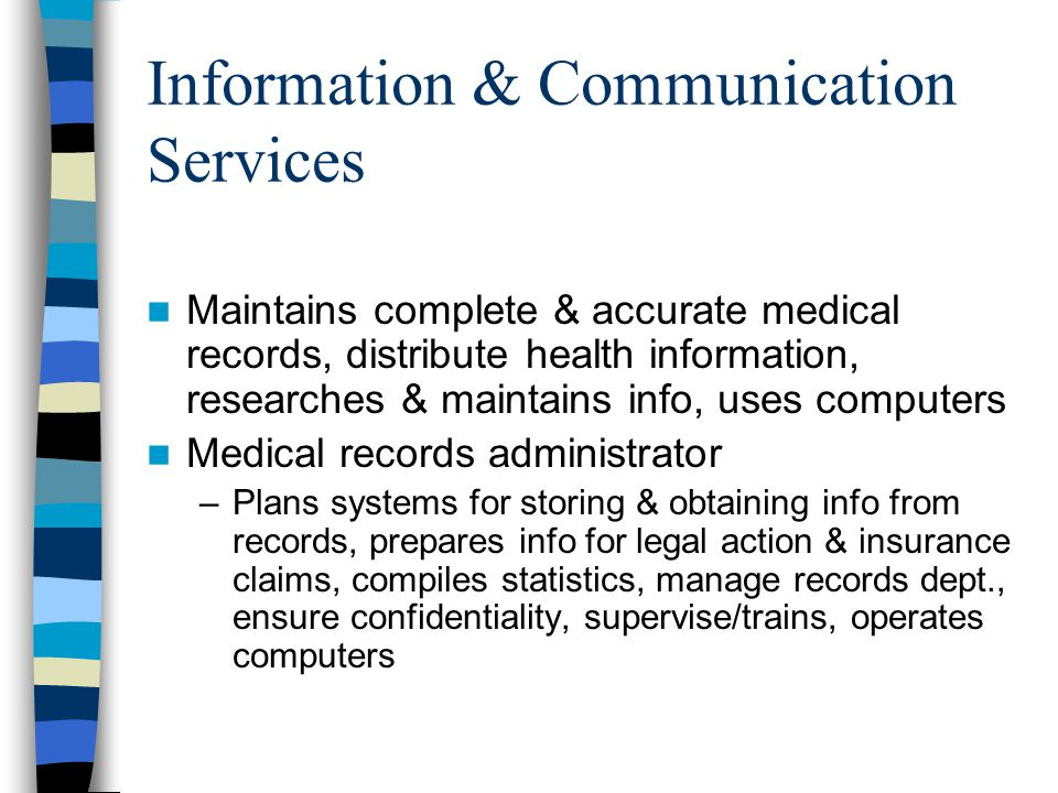 Communicate with and complete records for
