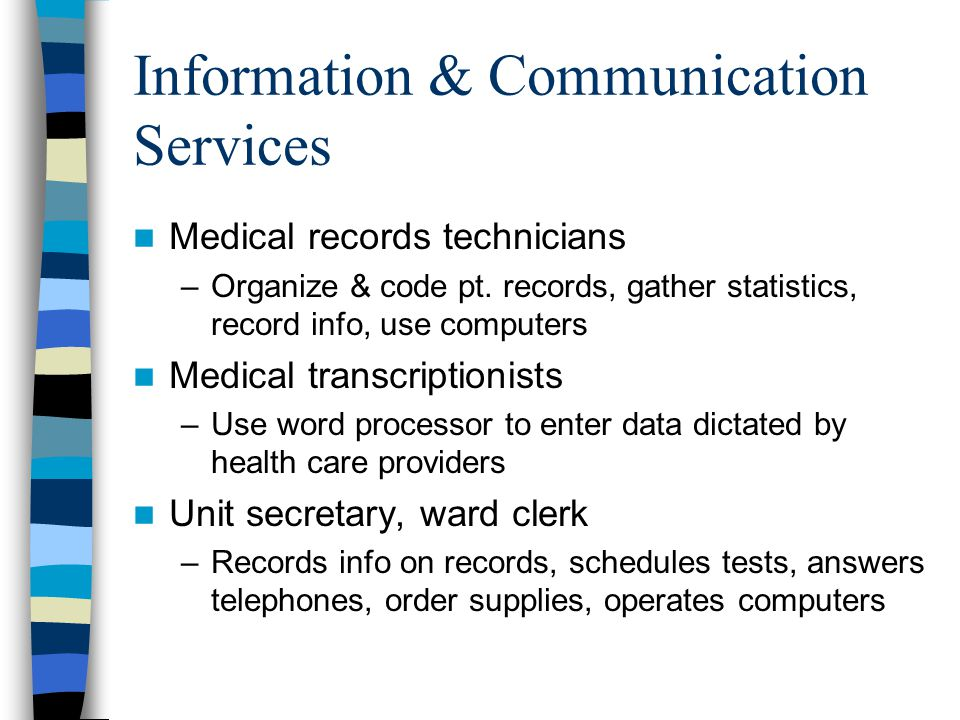 Information & Communication Services