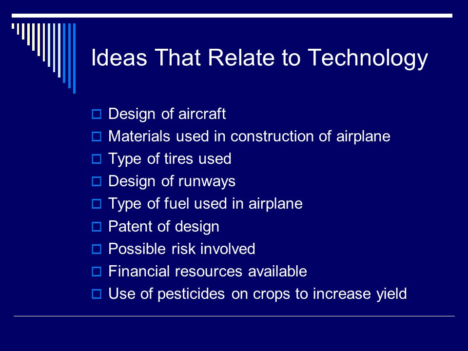 Ideas That Relate to Technology