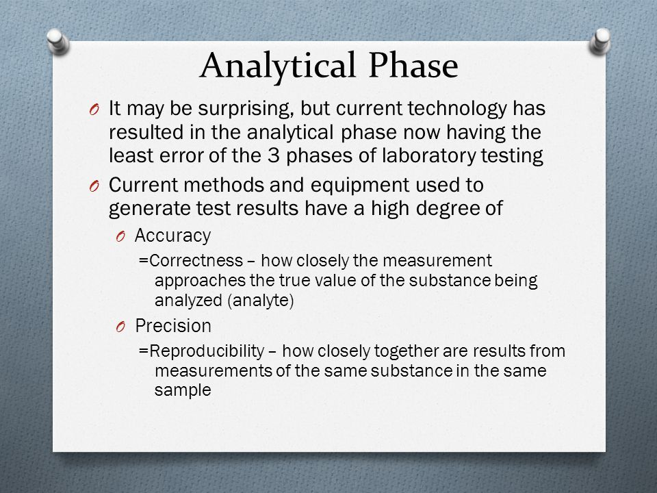 Analytical Phase